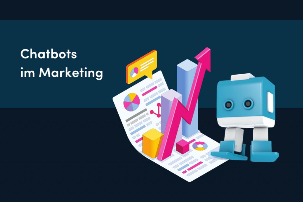 Blauweißer Chatbot Marketing Bot