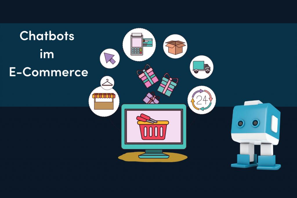 Blauweißer Chatbot im E-Commerce